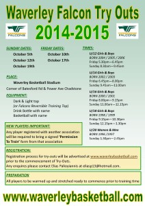 Tryouts 2014-15