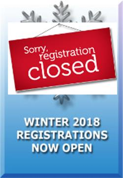 2018 Winter Registrations Now Closed