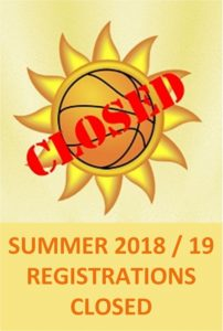 Summer 2018-19 Registrations Now Closed
