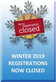 Winter 2019 Registrations Now Closed